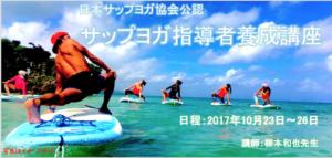 【参加募集中!】協会公認 柳本和也先生が講師のSUPヨガTT in 沖縄